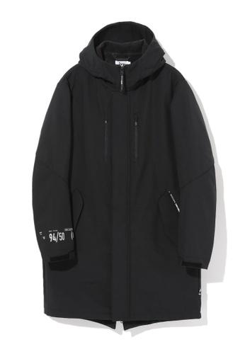 izzue black Fleece lined parka 9A0B1AA72F415CGS_1