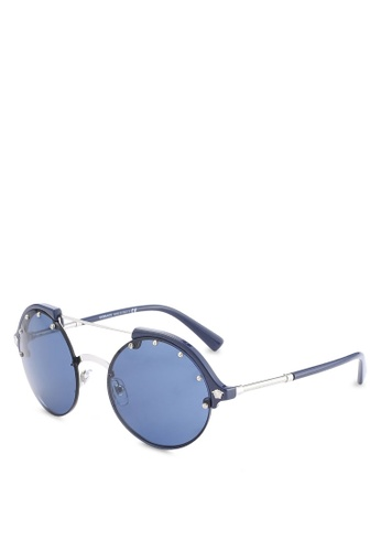 Versace blue Round Studded VE4337 Sunglasses VE417GL09YCSMY_1