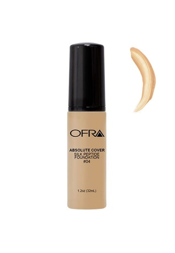OFRA beige Absolute Cover Silk Peptide Foundation in Shade 4 9543EBED9419FBGS_1