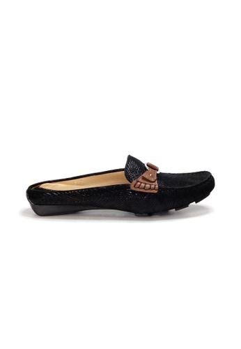 Shu Talk black AMAZTEP Bi-colored Buckle Slip On Mule Loafers(for Wide Feet) 84D57SHE8A8FB0GS_1