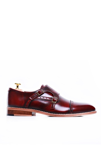 Zeve Shoes red Zeve Shoes Double Monk Strap - Red Polished Leather F9ABCSH51FB458GS_1