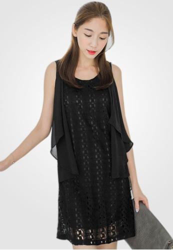 Sesura black Dainty Prim Knit Dress EB36EAA2B9E471GS_1
