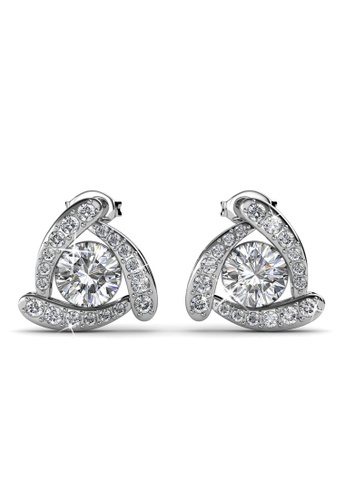 Her Jewellery silver Tri Galaxy Earrings -  Made with premium grade crystals from Austria HE210AC0GLSSSG_1