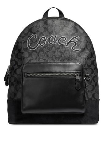 Coach black West Backpack (cv) F83E8AC99AA2F7GS_1