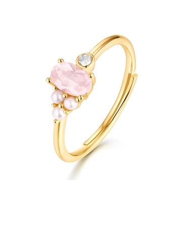 SUNSET gold Premium 925 Sliver Pearl Ring 0259BAC57541CDGS_1