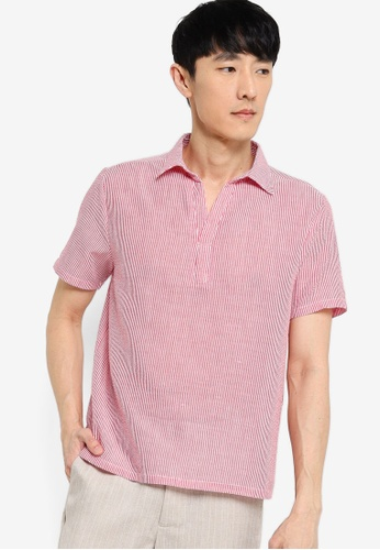 ZALORA BASICS multi Seersucker Short Sleeve Shirt 39408AAC9FB902GS_1