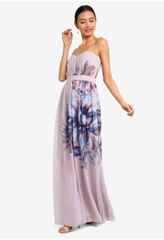 3608a5227194 Little Mistress pink and multi Corina Floral Bandeau Maxi Dress  E9576AAC82B547GS 1