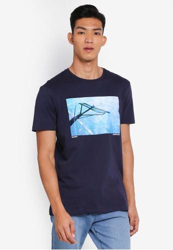 Cotton On 海軍藍色 休閒印花T恤 0472AAA61E2391GS_1