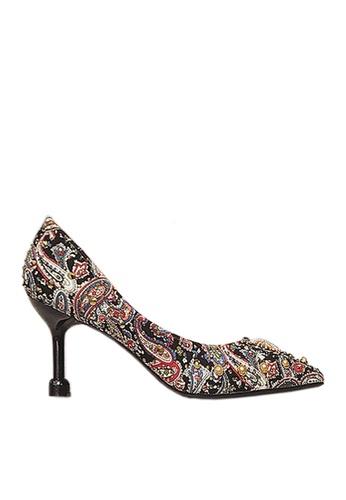 Twenty Eight Shoes black 7cm Printed Rhinestone Evening and Bridal Shoes VP162 0721FSH3E86515GS_1