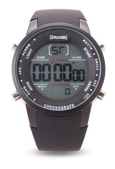 Quartz Digital Chronograph Watch SP-049 BLK