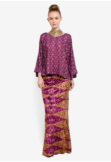 Sama Sama - Wide Sleeves Top with Mermaid Skirt BB8F6AA695E777GS 1 51662a4891