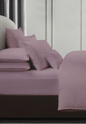 Grand Atelier pink Dusty Rose 1000TC 100% Egyptian Cotton Sateen Bolstercase 1pcs (Suite Essentials Collection) 1B79EHLC9D8933GS_1