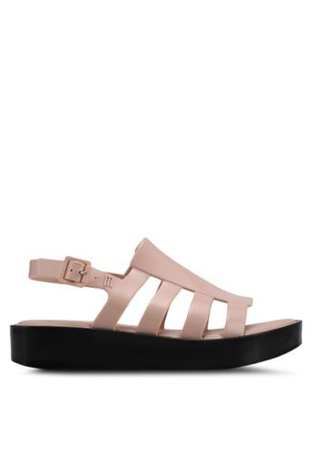 Melissa black and pink Melissa Boemia Platform Ad Sandals ME121SH0STJUMY_1