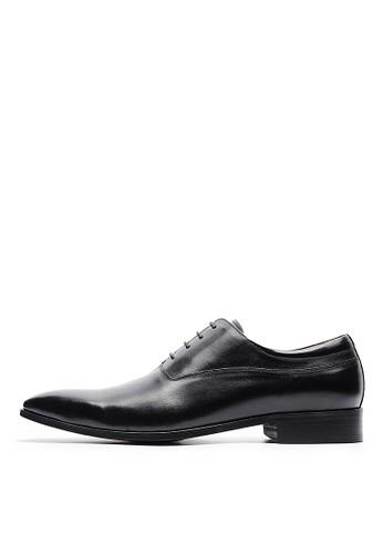 [尊爵皮底esprit 香港]打蠟全牛皮。極簡防滑皮鞋-04716-黑色, 鞋, 皮鞋