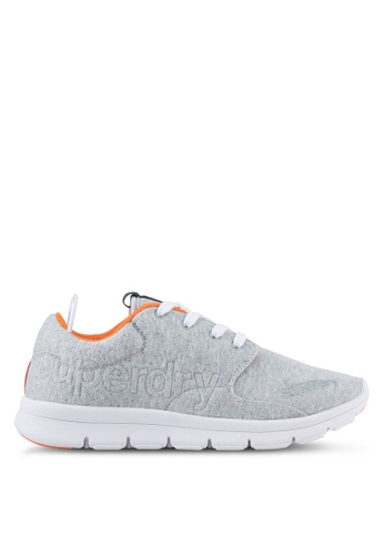 Superdry grey Superdry Scuba Runner Sneakers SU137SH0SLMXMY_1