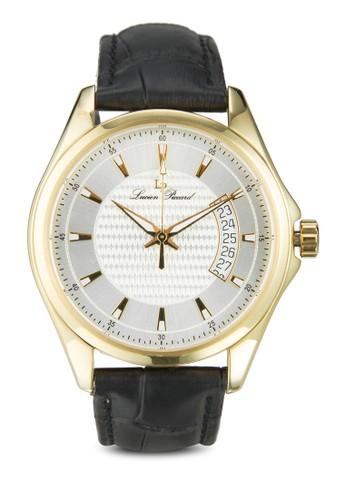 Excalibur 真皮圓框zalora 內衣手錶, 錶類, 皮革錶帶