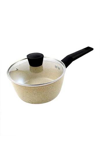 Slique white Forged Sauce Pan Premium Multi Layer Marble Coating 18cm D1368HL02FE82EGS_1
