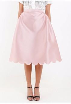 [PRE-ORDER] Side Pleated A-line Skirt in Gazaar