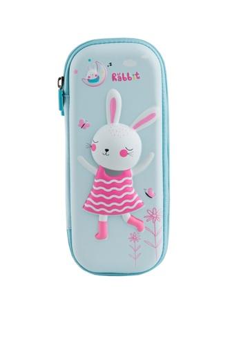 Twenty Eight Shoes blue VANSA Dancing Rabbit Series Pencil Case  VAK-A6671 55053KCAE2CDE7GS_1