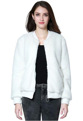 London Rag white Soft Comfortable White Fur Jackets C0CA0AA05E55C0GS_1