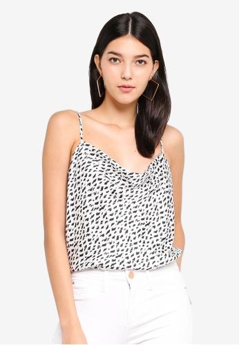 530a22f0c3b41 Buy River Island Short Sleeve Miami Cowl Cami Top Online on ZALORA Singapore