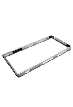 Sleek Metal Bumper Case for Sony Xperia Z3 (Silver)