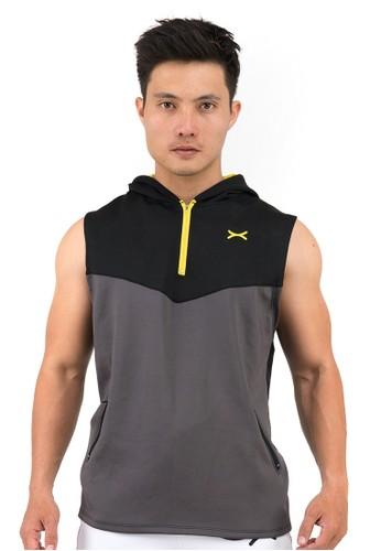 Flexzone black FLEXZONE Sport Hoodie Sleeveless Jacket Versatile Series Black Grey 7A37EAA452A368GS_1