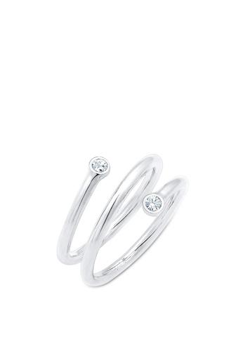 ELLI GERMANY silver Ring Twisted Geo Crystal EA812ACF831671GS_1