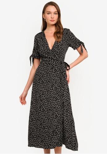 Sável black Shania Wrap Dress 2C125AAADAA1EBGS_1