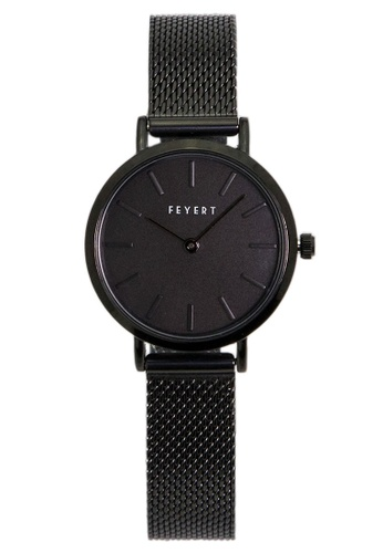 c6ed99b5515 Chronomart black FEYERT Logo Women s All Black Stainless Steel Mesh Chain  Strap Wrist Watch 45245AC6C81795GS 1. CLICK TO ZOOM