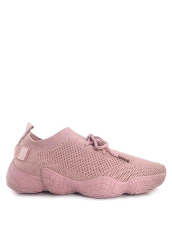 Twenty Eight Shoes 粉紅色 舒適針織襪子運動鞋 VT890 F7F8BSHFB9B0E1GS_1
