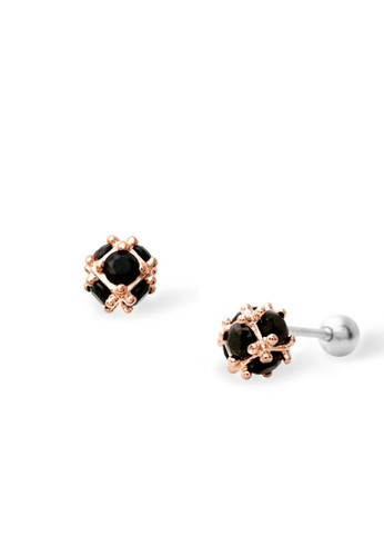 BE.JUU red Anting Piercing BE.JUU Lucky Rose Gold Aksesoris Perhiasan FA580ACCA4348DGS_1