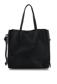 7407c52c45 Mango black Pebbled Shopper Bag 378D8ACB6CE71CGS_1