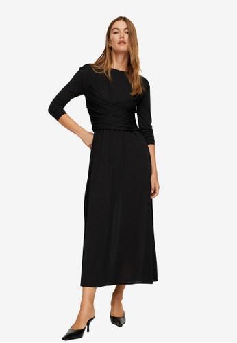 Mango black Waist Detail Dress 340FAAA8A698A3GS_1