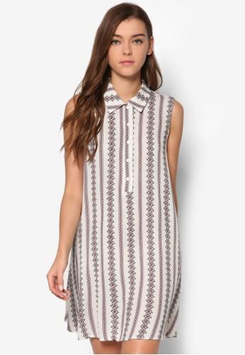 印花無袖襯衫esprit holdings limited式洋裝, 服飾, 印花時代