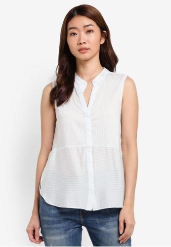 Vero Moda white Erika Diverse Stripe Shirt VE975AA0S5RGMY_1