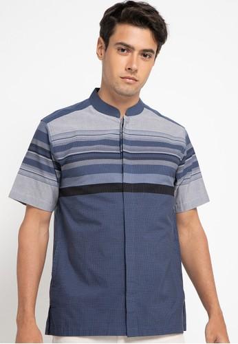 Introspect clothing navy Kemeja Koko 87780AA0232713GS_1