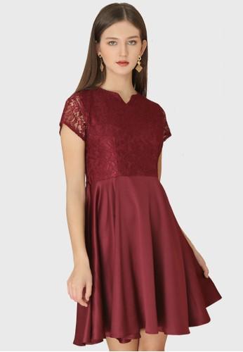 Urban Exchange red Erin Maroon Dress 71EE8AA922C269GS_1