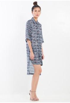 [PRE-ORDER] Digital Printed Silk Chiffon shirt-dress