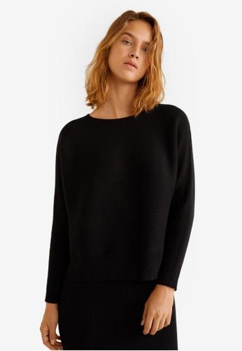 Mango black Ribbed Knit Sweater 560F8AAD0956E3GS_1