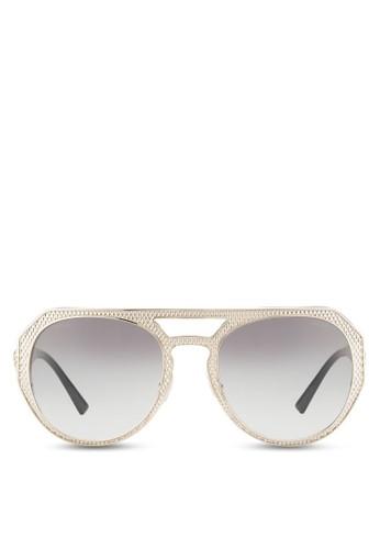 鉚釘紋理圓框太陽眼鏡esprit台灣門市, 飾品配件, 飾品配件