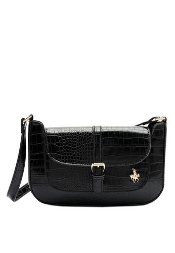 Swiss Polo black Croc Shoulder Bag 4E0ADAC05D6B5FGS_1