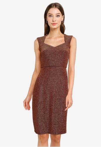 ZALORA OCCASION red Sweetheart Neckline Dress 38986AAD0B9C0BGS_1