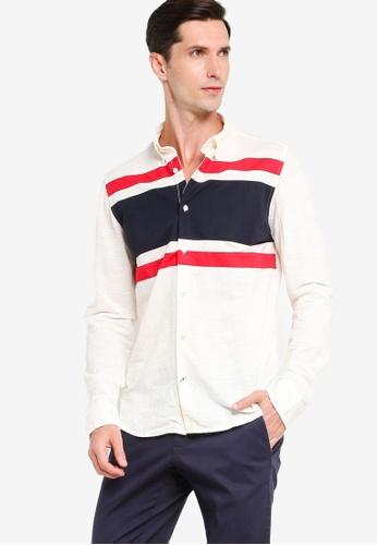 Tommy Hilfiger 米褐色 Bryant 長袖襯衫 EE224AAAF82FE3GS_1