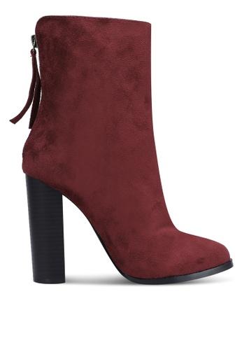 ZALORA 紅色 Ankle Boots 171A5ZZ9FD0241GS_1
