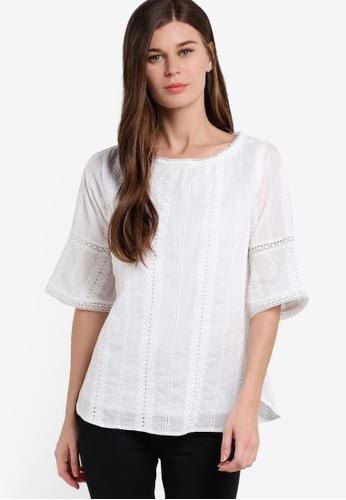Geb. white 3/4 Sleeve Top GE945AA19OLKMY_1