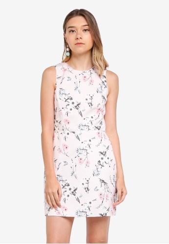 Miss Selfridge pink Print Otoman Mini Dress 26746AAF729DDEGS_1