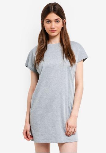 Something Borrowed grey Drop Shoulder Tee Dress 7D826AA2CB02DAGS_1
