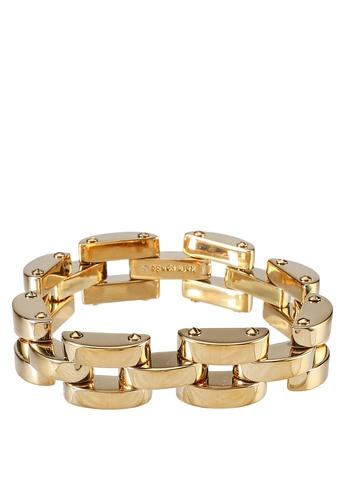 kate spade new york gold Sliced Scallops Small Link Bracelet (cv) CCDD9AC6A6DAA9GS_1