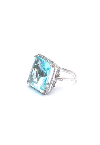 Celline Silver blue Turquoise Blue Cubic Zirconia Ring 6FDAEACC985DCEGS_1